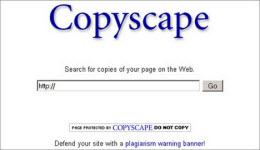 Copyscape search.